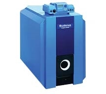Photo of blue Buderus equipment sold by Bourne's Energy