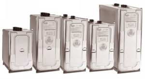 Photo of multiple sizes of Roth's state-of-the art double-wall tanks