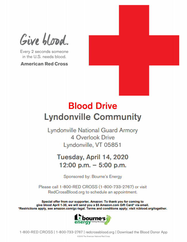 Lyndonville Community Blood Drive